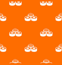 sushi pattern seamless vector image