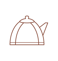 Teapot hot beverage out line vector