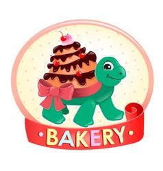 Turtle Cake logo vector