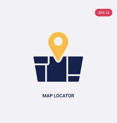 Two color map locator icon from ultimate vector