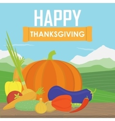 Very happy Thanksgiving on wood vector image