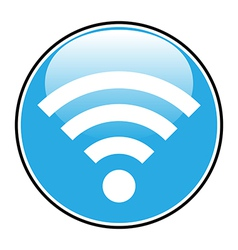 Wi Fi icon button vector