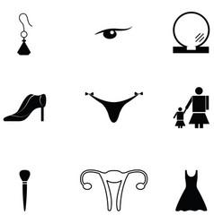 Women icon set vector