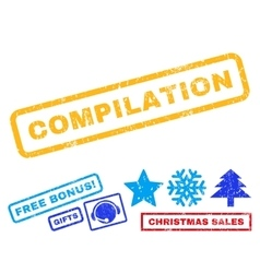 Compilation Rubber Stamp vector image vector image