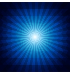 Deep blue dark geometric background with sunburst vector image