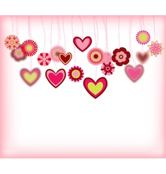 flowers with heart vector image