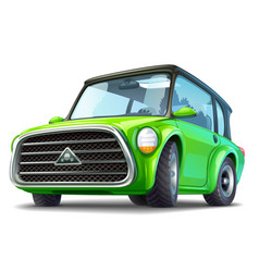 green ecocar vector image vector image