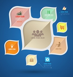 Modern info graphic with icons vector image