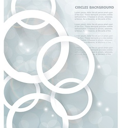 Paper circles background vector image vector image