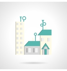 Residential district abstract flat icon vector image