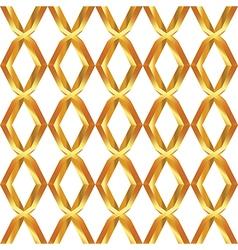 Seamless pattern of golden mesh vector