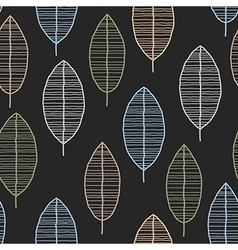 Seamless Tile With 50s Retro Leaf Pattern vector image vector image