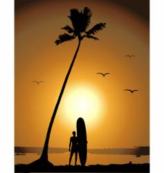 summer vacations surfing vector image vector image