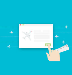 Airline tickets online conceptual flat vector