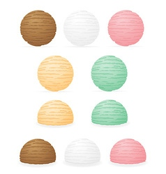 ice cream balls 01 vector image vector image