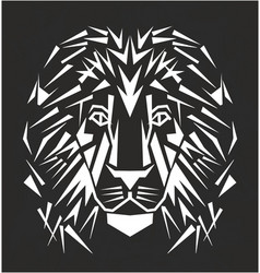 line art lion tattoo vector image