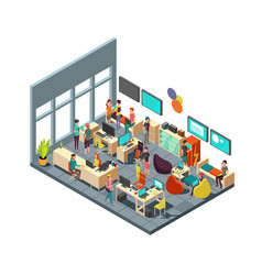 relaxed creative people meeting in room interior vector image