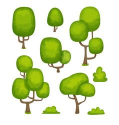cartoon trees vector image vector image