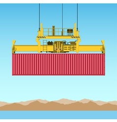 freight container vector image vector image
