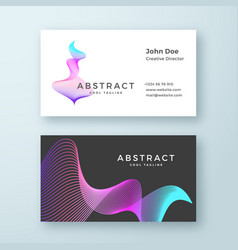 abstract blend wavy symbol business card vector image vector image