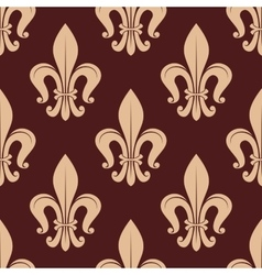 Brown and beige royal seamless pattern vector image