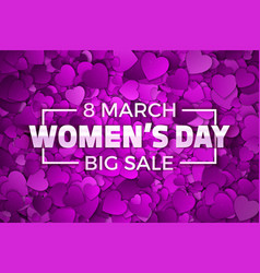 happy womens day big sale vector image vector image