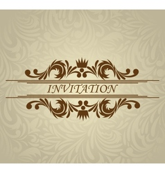 Invitation card with frame vector image