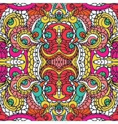 Multicolor swirl ethnic seamless patternAbstract vector image vector image