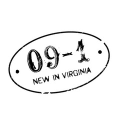 new in virginia rubber stamp vector image vector image