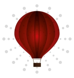 Air balloon birthday dot background vector
