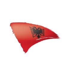Albania flag on a white vector