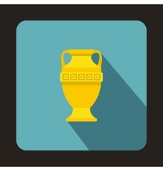 Ancient vase icon flat style vector image
