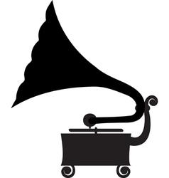 Antique gramophone vector
