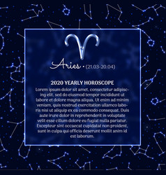 Aries astrology horoscope prediction banner vector