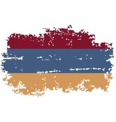 Armenian grunge flag vector