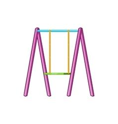 Baby swing icon cartoon style vector