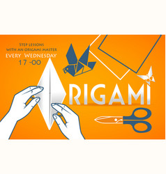 banner cover for origami vector image