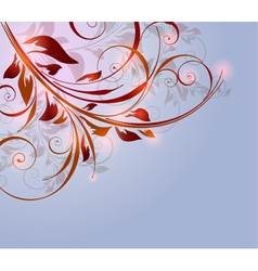 beautiful background with flora and glowing elemen vector image
