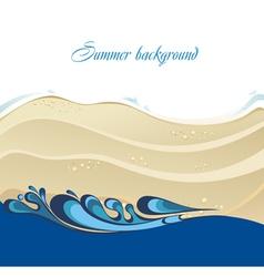 Beautiful beach and tropical sea vector image