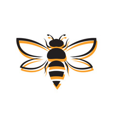 bee design on white background easy editable vector image