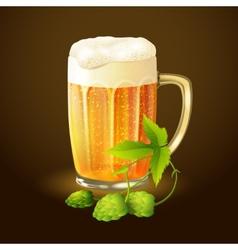 Beer hop background vector image