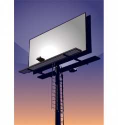 bilboard sign vector image