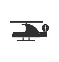 Black icon on white background helicopter toy vector