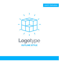 Blue logo design for box labyrinth puzzle vector