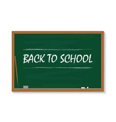 board for school chalkboard in class green vector image
