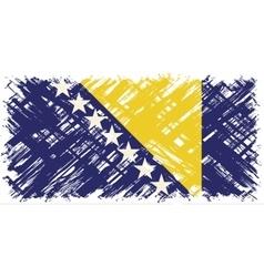 Bosnia and Herzegovina grunge flag vector image