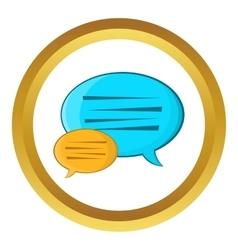 Bubble speech icon vector