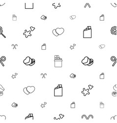candy icons pattern seamless white background vector image