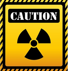 Caution design vector image