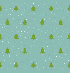 Christmas trees pattern vector